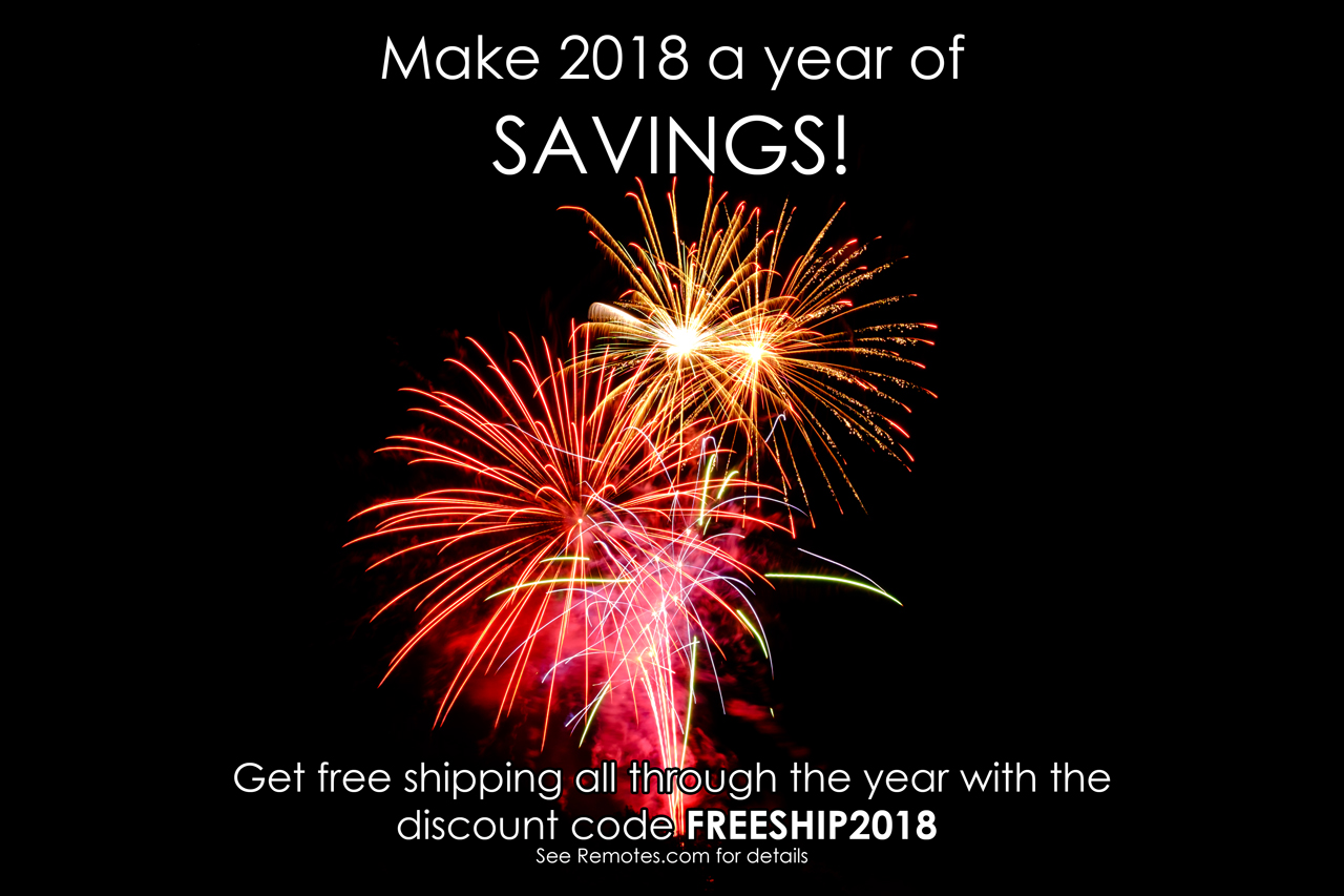 Free shipping through 2018 with the code FREESHIP2018