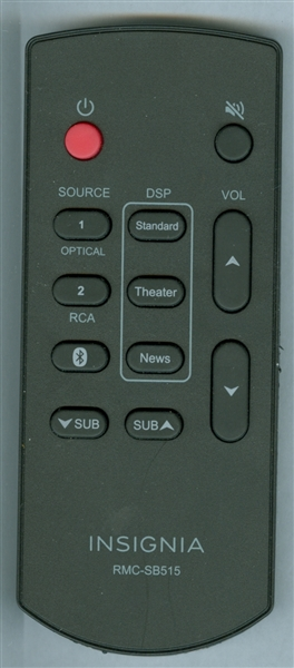Find A Code >> INSIGNIA RMC-SB515 Genuine OEM Original Remote